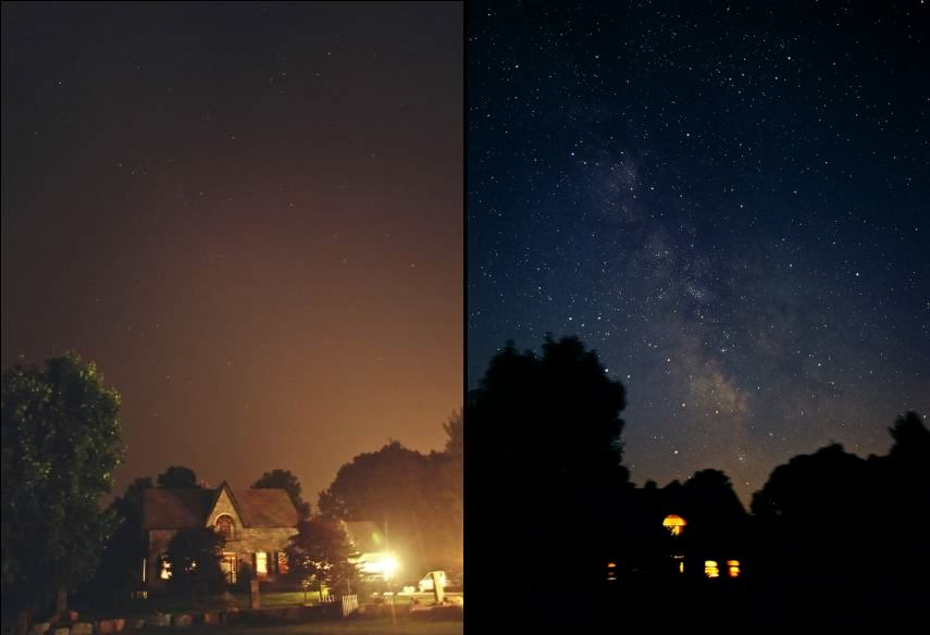 Power outage demonstrates how irresponsible lighting has stolen our night sky.