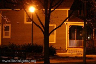 Light trespass occurs when light shines from one property to the next.