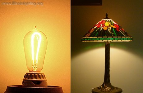 The lampshade was invented to remove glare.