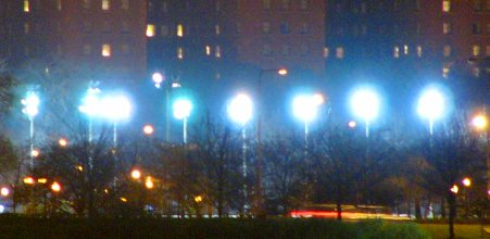 Sports fields use higher intensity lighting than any other nocturnal activity.